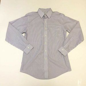 * Brooks Brothers Blue Striped Classic Fit Shirt